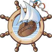 Ship & wheel — Stockvector