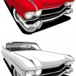 Stock Vector: American retro car