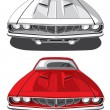 Royalty-Free Stock Vector Image: Muscle car_Plymouth