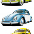 Stock Vector: Old-fashioned car set