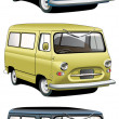 Old-fashioned van set - Stock Vector