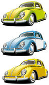 Old-fashioned car set — Stock Vector