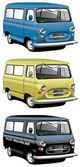 Old-fashioned van set — Stock Vector
