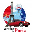 Vacation in Paris — Stock Vector
