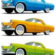 American old-fashioned car - Stock Vector