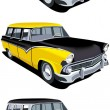 American retro station wagon - Stock Vector