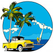 Royalty-Free Stock Vektorov obrzek: Hawaiian vignette