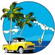 Royalty-Free Stock Vektorgrafik: Hawaiian vignette