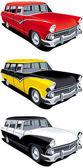 American retro station wagon — Stock Vector
