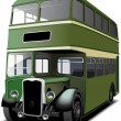 Royalty-Free Stock Vector Image: Green double decker bus