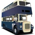 Blue double decker bus — Stock Vector #2216085
