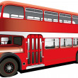 Royalty-Free Stock Vector Image: Red double decker bus