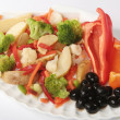 Potato with vegetables on plate — Lizenzfreies Foto