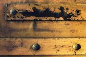 Metal nieczysty z nit — Zdjęcie stockowe