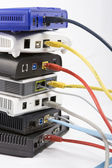 Dsl modemler — Stok fotoğraf