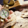 Stock Photo: Compass in hand