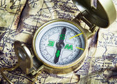 旧指南针 — 图库照片