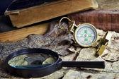 Oude kompas — Stockfoto