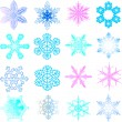 Snow 1.Vector image — Stock Vector