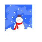 Snowman.Vector image — Stock Vector