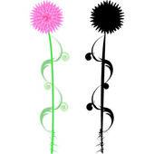 Flower design.Vector image — Stock Vector