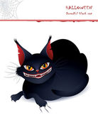 Dreadful black cat — Stock Vector