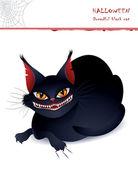 Dreadful black cat — Stock Vector