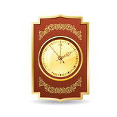 Retro clock — Stock Vector