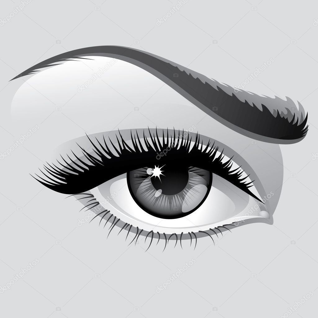 Vector illustration detailed сloseup eye beautiful woman — Stock Vector #1467173