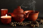набор для китайской чайной церемонии — Стоковое фото