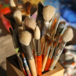 It is a lot of art brushes — Stock Photo
