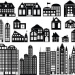 Royalty-Free Stock Imagem Vetorial: Vector Buildings