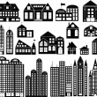 Vector Buildings — Stockvektor