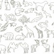 Royalty-Free Stock Vector: Rough animals