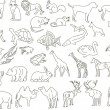 Royalty-Free Stock Imagem Vetorial: Rough animals