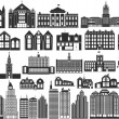 Stock Vector: Simple buildings