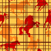 Seamless pattern with horses — Stockvektor