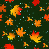 Seamless pattern with leaves — Stockvektor