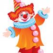 festliga clownen — Stockvektor