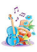 The musician — Stock Vector