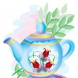 Teapot with colors — Stock Vector