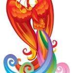 Magic bird — Stock Vector
