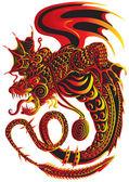 Fiery snakes — Stock Vector