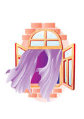 Window with curtains — Stock Vector