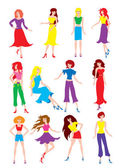 Girls — Vector de stock