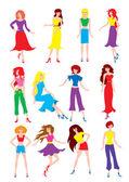 девочки — Cтоковый вектор