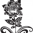 Tattoo of a rose - Stock Vector