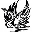 Vector de stock : Silhouette of swan