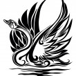 Silhouette of swan — Vector de stock #1541162