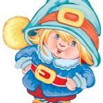 The small gnome — Stock Vector